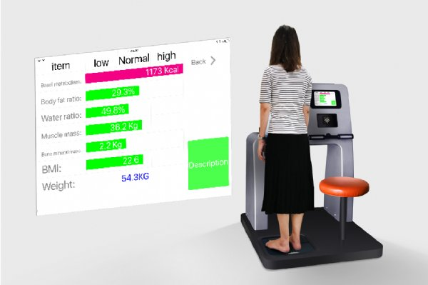 HCare3 shows body composition of the woman