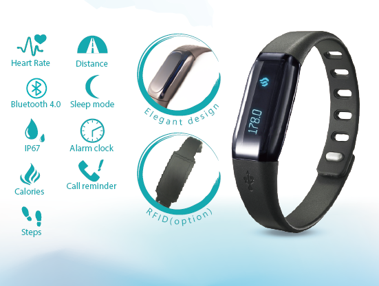 Heart Rate Smart Wristband GSH405-B6